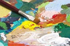 artysta paleta s Zdjęcie Stock