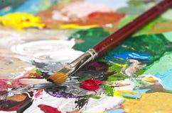 artysta paleta s obraz royalty free