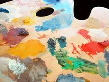 artysta palety jest wykorzystanie Zdjęcie Stock