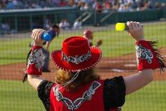 artysta platformy baseballu zdjęcie royalty free