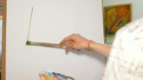 Artysta stawia pierwszy uderzenia na pustej kanwie Niepewny początek przyszłościowy arcydzieło w obrazie zbiory