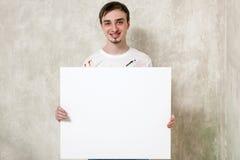 Artysta z pustym obrazkiem zdjęcie stock