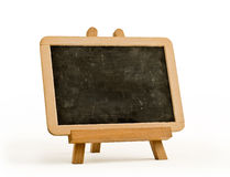 artysty blackboard sztaluga Obrazy Stock