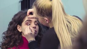 artysty do makijażu eyeshadow zbiory wideo