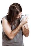 artysty dziwaczna mężczyzna maska Fotografia Royalty Free