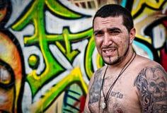artysty graffiti portret Fotografia Royalty Free