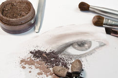 artysty makeup Obraz Royalty Free
