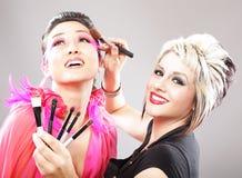 artysty makeup obrazy royalty free