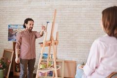 Artysty obrazu portret model w studiu zdjęcie royalty free