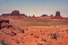 Artysty widok, Pomnikowa dolina, Utah fotografia stock