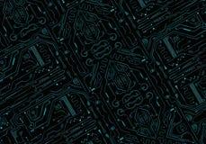 Artystyczna Abstrakcjonistyczna Nowożytna Technologiczna sieć Jako Unikalny tło fotografia royalty free