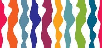 Artystyczna krzywa wykłada bezszwowego wzór, abstrakcjonistyczny kolorowy wektor ilustracji