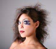 artystyczna makijaż blasku scena Obrazy Stock