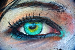 artystyczna oko Obraz Royalty Free