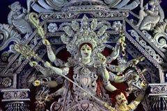 Artystyczna rzeźba Hinduska bogini Durga Durga puja duży Hinduski festiwal India tradycyjny rzeźba projekt fotografia stock