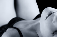 Artystyczna zamiany kobieta z bielizną Fotografia Royalty Free