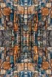 Artystyczne abstrakcjonistyczne stubarwne skały deseniują jako unikalna ścienna tekstura zdjęcia stock