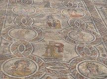 Artystyczne Romańskie mozaiki w Volubilis, Maroko fotografia royalty free