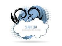 artystycznego tła błękitny florel grunge ilustracja wektor
