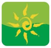 artystycznego tła rysunkowy słońca biel Zdjęcia Royalty Free
