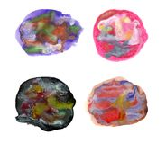 Artystyczni kolorowi akwareli muśnięcia uderzenia Obraz Stock
