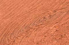 Artystyczni ocechowania na glinianym tenisowym sądzie Zdjęcia Royalty Free