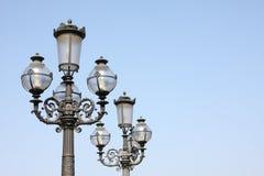 artystyczni streetlamps Zdjęcia Royalty Free
