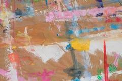 Artystyczni stubarwni kleksy na przetwarzającej papierowej tło teksturze ilustracja wektor