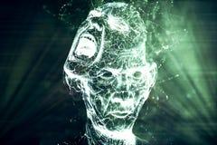 Artystyczny Abstrakcjonistyczny Potężny Elektryczny Krzyczący rzeźby tło ilustracja wektor