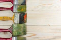 Artystyczny, artysta, sztuka Używać artystów paintbrushes Zdjęcia Royalty Free