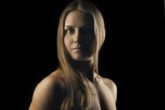 Artystyczny blond portret Zdjęcie Stock