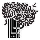 artystyczny ilustracyjny drzewo Zdjęcia Royalty Free