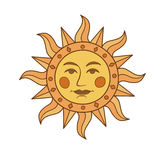 artystyczny ilustracyjny słońca symbolu wektor Zdjęcia Stock