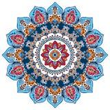 Artystyczny Indiański mandala druk Rocznik henny tatuażu styl zdjęcie stock