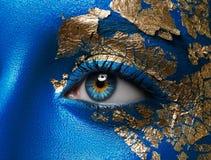 Artystyczny makijażu i ciała sztuki temat: portret piękny ty obrazy royalty free