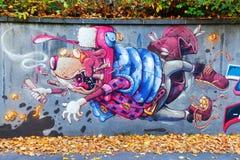 Artystyczny malowidło ścienne w Koblenz, Niemcy Zdjęcie Royalty Free