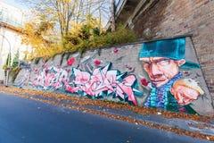 Artystyczny malowidło ścienne w Koblenz, Niemcy Zdjęcia Royalty Free