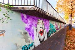 Artystyczny malowidło ścienne w Koblenz, Niemcy Zdjęcie Stock