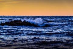 Artystyczny Miękki Błękitny ocean fala tło zdjęcie stock