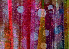 Artystyczny nieregularny i pochylanie obdzieramy, abstraktów paski, Textured kolorów bloki Zdjęcia Royalty Free