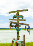 Artystyczny plaża znak Obrazy Royalty Free