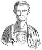 Artystyczny portret Julius Caesar ilustracja wektor