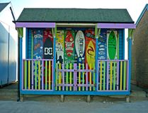Artystyczny projekt na Plażowej budzie, Sutton na morzu Obraz Stock