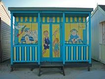 Artystyczny projekt na Plażowej budzie, Sutton na morzu Zdjęcie Stock