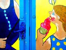 Artystyczny projekt na Plażowej budzie, Sutton na morzu Zdjęcia Royalty Free