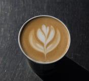 Artystyczny projekt na wierzchołku kawa Obrazy Royalty Free
