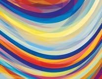 Artystyczny projekta tło z zawijasów lampasami Obrazy Royalty Free