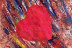 Artystyczny, rysujący serce, ilustracja wektor
