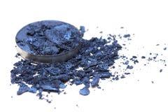 Artystyczny styl rozbijał eyeshadow w zmroku - błękit na białym tle Zdjęcie Royalty Free