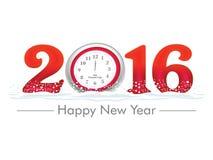 Artystyczny Szczęśliwy nowy rok 2016 - Wektorowa ilustracja ilustracji